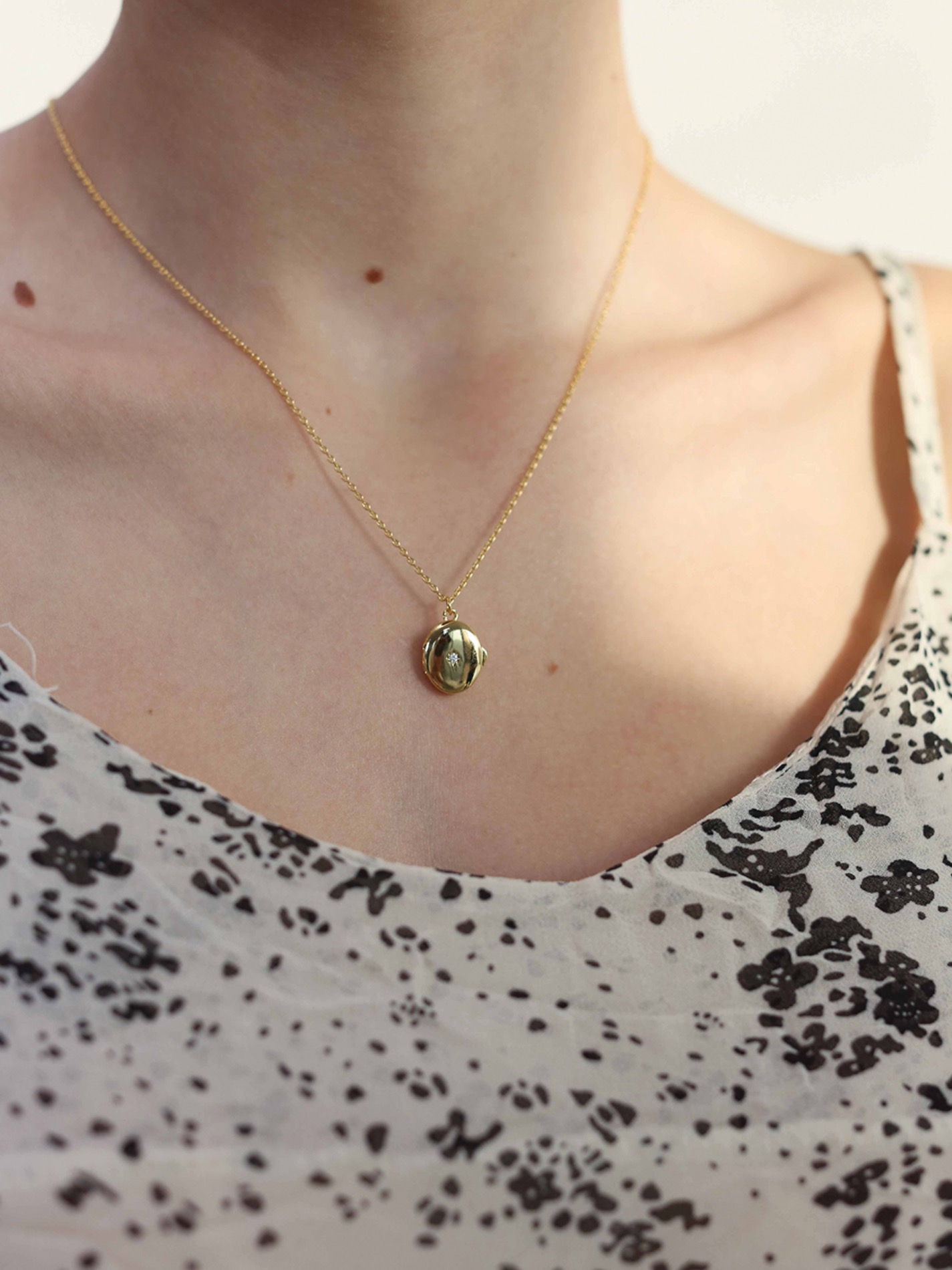 R Locket Necklace